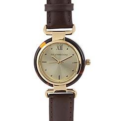 RJR.John Rocha - Designer ladies brown tortoiseshell watch