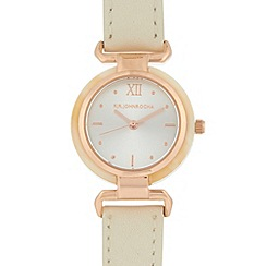 RJR.John Rocha - Designer ladies cream horn effect bezel watch
