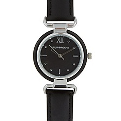 RJR.John Rocha - Designer ladies black marble bezel watch