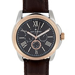 Jeff Banks - Designer men's brown chronograph watch