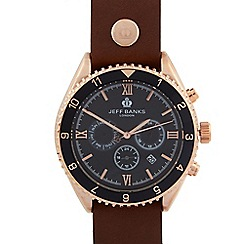 Jeff Banks - Designer men's black chronograph watch