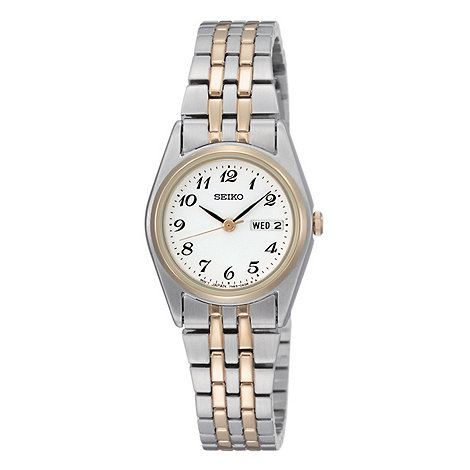 Seiko - Ladies multi coloured round face bracelet watch
