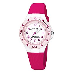 Lorus - Kids' pink round watch