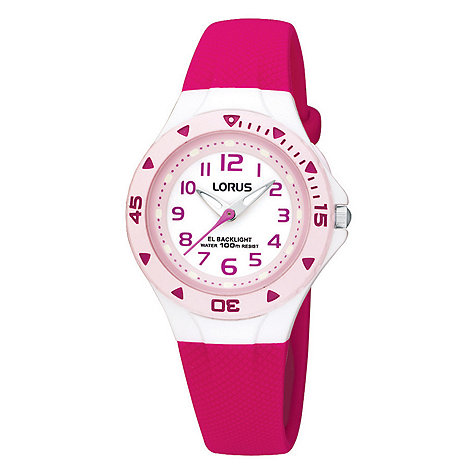 Lorus - Kids+ pink round watch