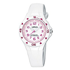 Lorus - Kids' white round dial watch r2335dx9