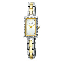 Lorus - Ladies multi rectangular dial two tone bracelet watch