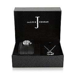 J by Jasper Conran - Designer ladies silver plated watch and necklace set