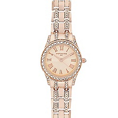 Infinite - Ladies rose gold crystal watch