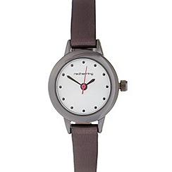 Red Herring - Ladies gunmetal iridescent watch