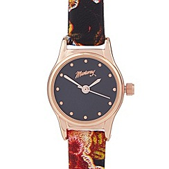 Mantaray - Ladies rose gold small floral watch