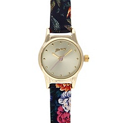 Mantaray - Ladies gold plated floral strap watch