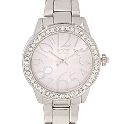 Floozie by Frost French - Designer ladies silver plated crystal face watch