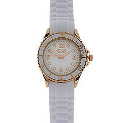 Floozie by Frost French - Designer ladies white silicone strap watch