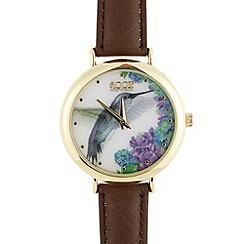 Floozie by Frost French - Ladies brown bird holograph watch