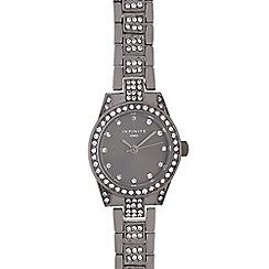 Infinite - Ladies gunmetal crystal embellished watch