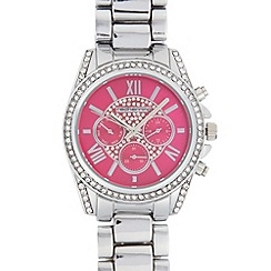 Red Herring - Ladies silver plated crystal bezel watch