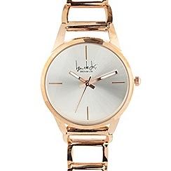Principles by Ben de Lisi - Designer ladies rose gold open link watch