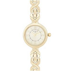 Infinite - Ladies gold cross link strap
