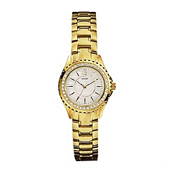 Guess - Ladies gold stone set bracelet watch