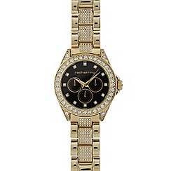 Red Herring - Ladies gold plated diamante set bracelet watch