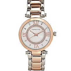 Red Herring - Ladies silver plated two tone watch