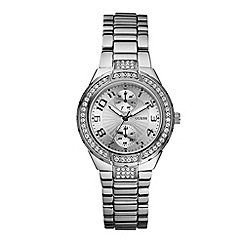 Guess - Ladies silver round bracelet watch