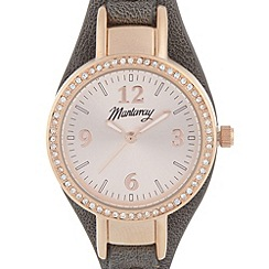 Mantaray - Ladies grey crystal bezel watch