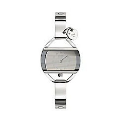 STORM - Ladies silver rectangular dial watch