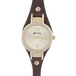Mantaray - Ladies brown crystal bezel watch