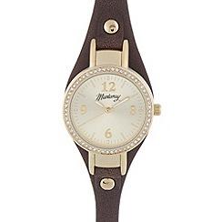 Mantaray - Ladies brown crystal bezel watch