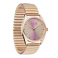 Floozie by Frost French - Ladies rose gold iridescent dial watch