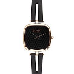Principles by Ben de Lisi - Designer ladies rose gold plated square analogue watch