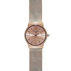 Infinite - Rose plated mesh watch