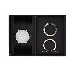 Infinite - Ladies stainless steel interchangeable watch gift set