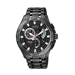 Citizen - Men's  black round face multi watch