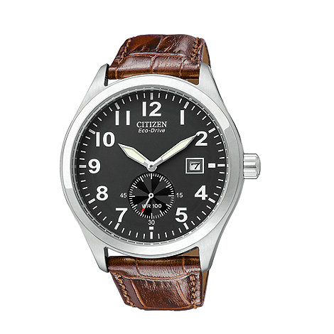 Citizen - Men+s  brown round face watch