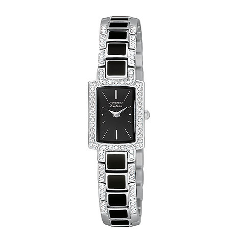 Citizen - Ladies black square face bracelet watch