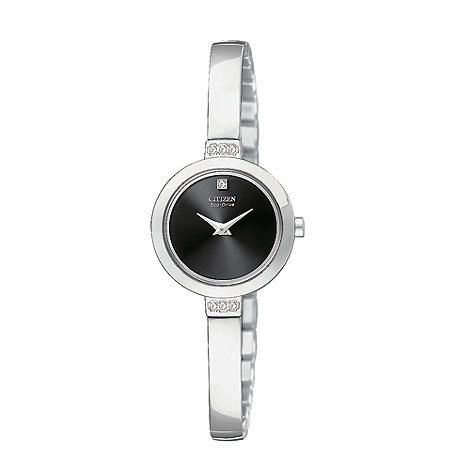 Citizen - Ladies silver round face bangle watch