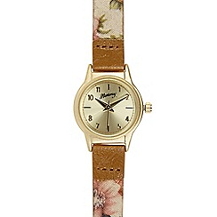 Mantaray - Women's gold plated mini ditsy floral watch
