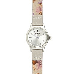 Mantaray - Women's silver plated mini ditsy floral watch