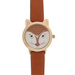 Floozie by Frost French - Ladies tan fox dial watch