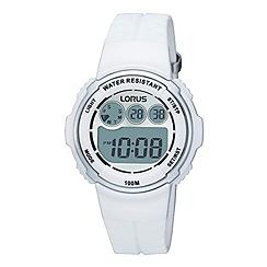 Lorus - Ladies white round dial digital watch