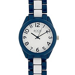 Floozie by Frost French - Ladies blue two tone watch