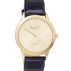 Principles by Ben de Lisi - Designer ladies black patent strap sub dial watch