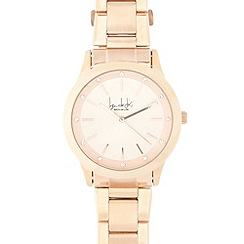Principles by Ben de Lisi - Designer ladies rose gold metal link watch