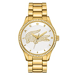 Lacoste - Ladies gold plated silver white bracelet