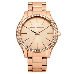 French connection - Ladies Rose Gold Tone Bracelet Watch