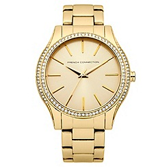 French Connection - Ladies Gold Tone Bracelet Watch