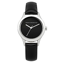 French Connection - Ladies Black Patent Leather Strap Watch