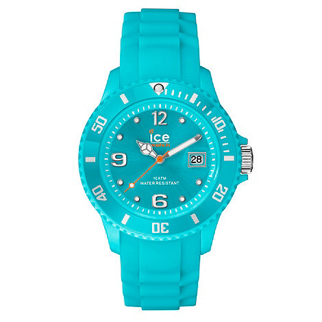 ICE - Unisex large turquoise silicone watch